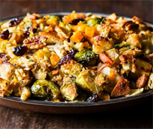 Stuffing butternut squash brussels sprouts copy