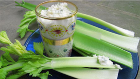 celery with chunky dressing